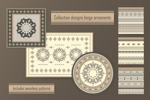 Collection designs beige ornaments