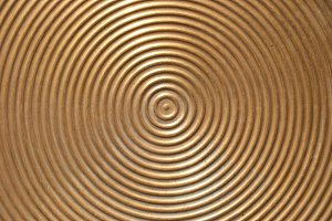 Abstract circle metal plate