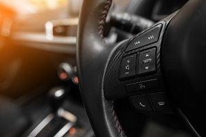 Audio button on steering wheel
