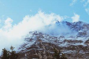 Mountain peaks in Interlaken