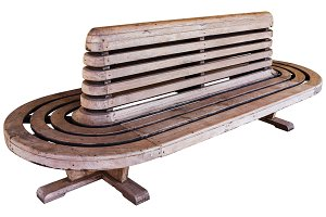 railway station wood chair