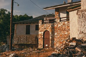 Old slum in the village