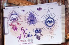 Eye of Tribe. Vector Set of 10.