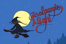 Walpurgis Night. Vector