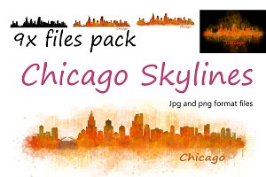 9x files Pack Chicago City Skylines