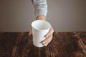 Paper takeaway cup mockup set