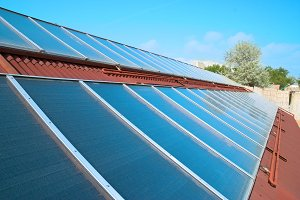 Solar water heating panels