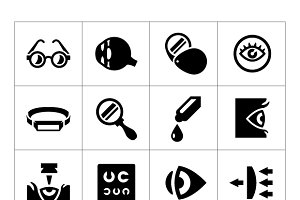 Set icons of ophthalmology