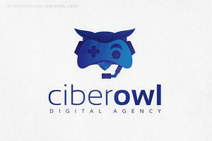 Ciberowl Bird Logo Template