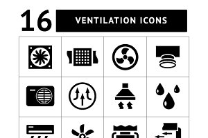 Set icons of ventilation