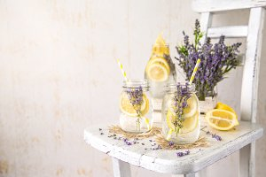 Cold Infused Lavender Detox Water