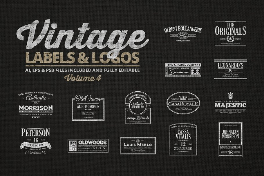 Vintage Labels & Logos Vol.4