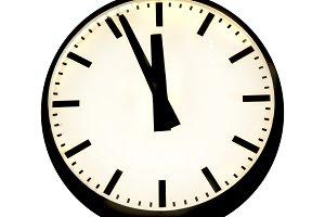 Five to twelve on the clock