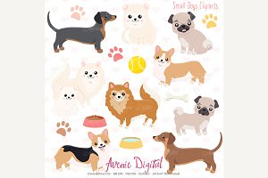 Cute Dogs Clipart and Vectors
