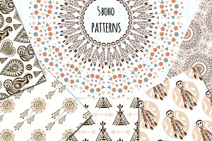 Amazing Boho Vector Patterns
