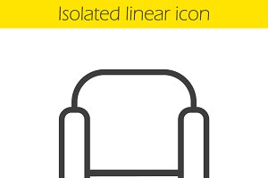 Armchair linear icon. Vector