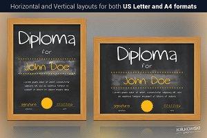 Chalkboard Diploma Template