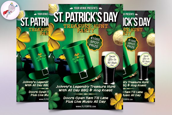 St. Patrick's Day Flyer Template - Flyers