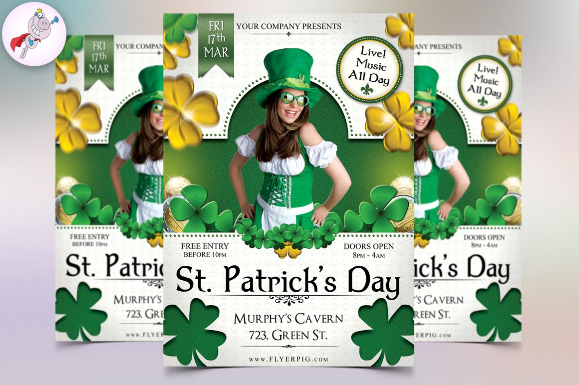 open day poster template chatorioles st patrick s day 4 flyer template flyer templates on creative