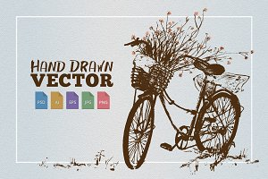 Rustic Bike Vector Illustration