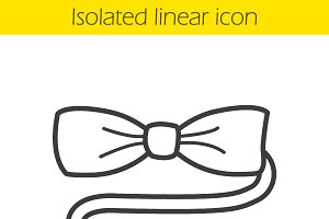 Bow tie linear icon. Vector