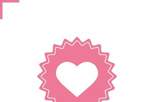 Heart pink color icon. Vector