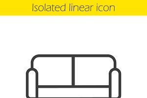 Couch linear icon. Vector