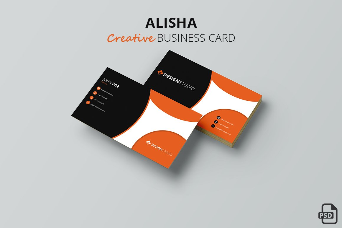 Alisha - Creative Business Card ~ Business Card Templates ~ Creative ...