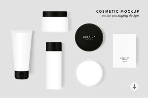 Cosmetic Packaging Vector MockUp
