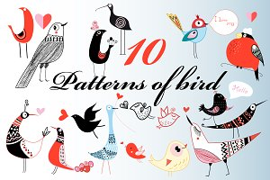 Funny pattern with birds