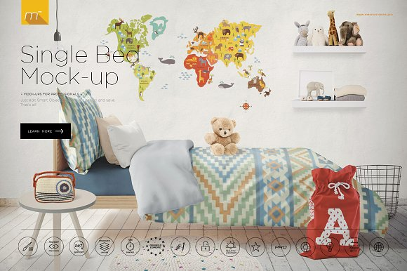 Download Single Bed Mock-up