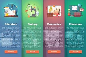 Education and science banners set