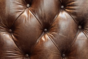 brown leather upholstery