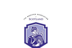 The Bagpiper Society Logo