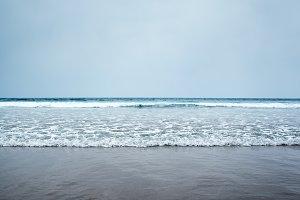 waves coast ocean