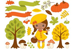 Autumn Set - African American Girl