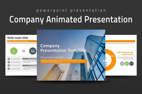 company animated ppt template presentation templates creative market