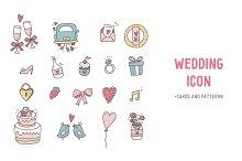 Wedding Hand Drawn Icons