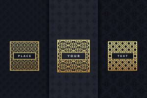 Luxury design elements frame