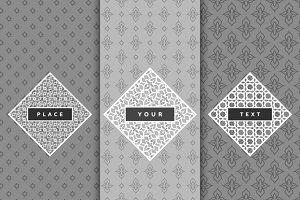 Luxury design elements frame.