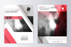 Annual Report Brochure. A4 Vector.