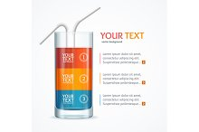 Coctail Glass Text Menu. Vector