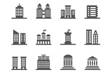 Building, house vector icons