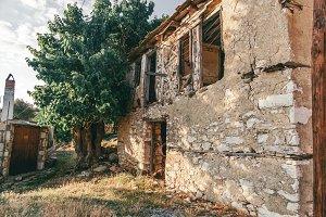 Damaged old house