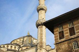 Blue Mosque Minaret in Istanbul