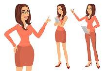 Business Girl. young women vector