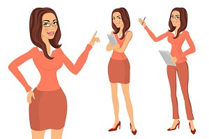 Business Girl. young women vector