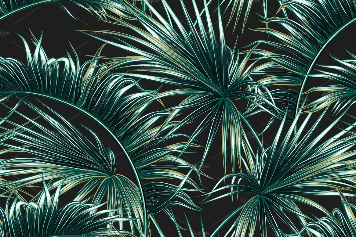 tropical palm leaves pattern graphic patterns creative market