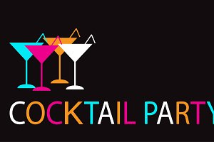 Summer cocktail party background