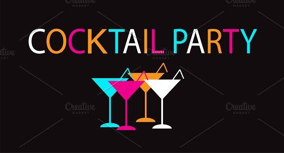 Summer cocktail background
